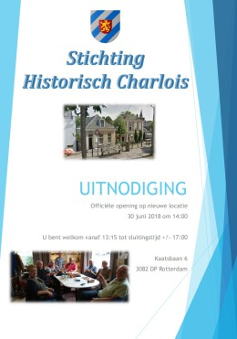 Opening nieuwe locatie Stichting Historisch Charlois, 30 juni