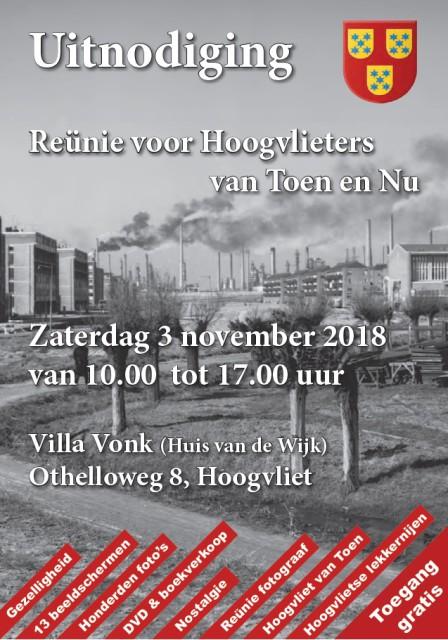 Reünie voor Hoogvlieters, 3 november