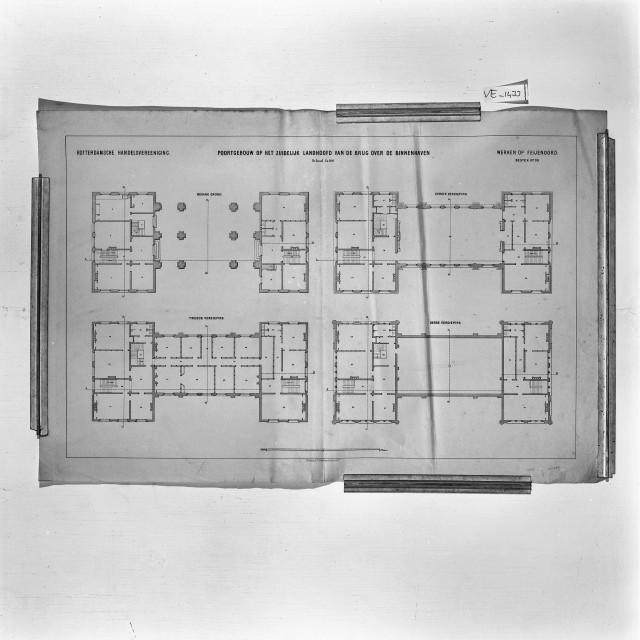 J. Vürtheim en Zn. plattegrond Poortgebouw, collectie RCE/VE-1433