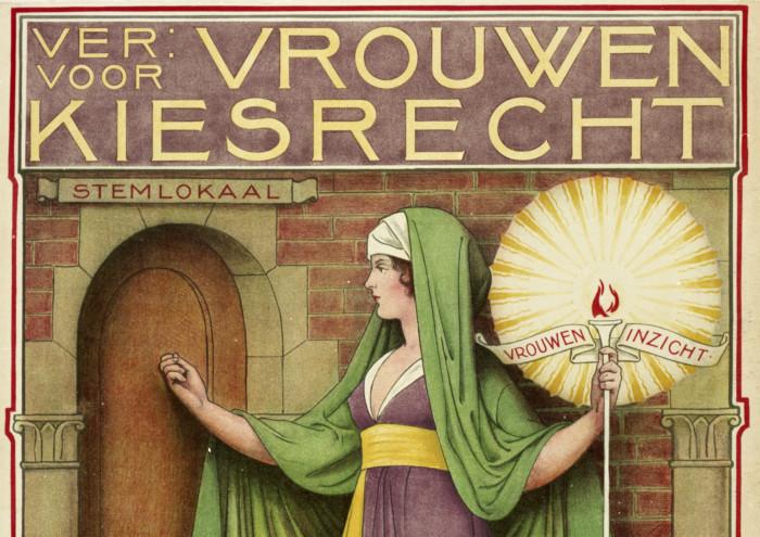 Affiche: Vereniging voor Vrouwenkiesrecht.
