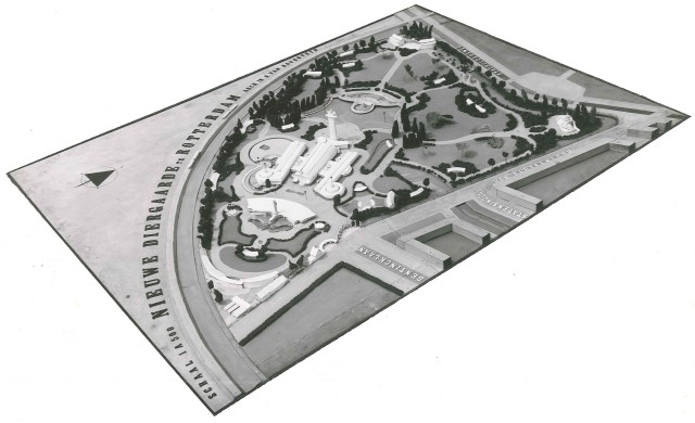 1940 Maquette van het definitieve ontwerp van Diergaarde Blijdorp